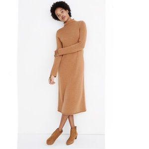 {Madewell} Cashmere Midi Sweater Dress Size M NWT
